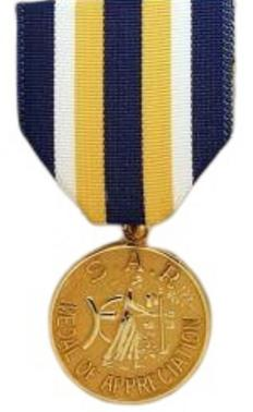 SAR Medal of Appreciation (DAR)
